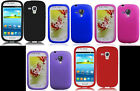 2 x SILICONE SKIN Phone Cover CASE OF YOUR CHOICE for Samsung Galaxy S3 Mini