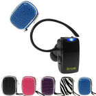 Mini Wireless Bluetooth Headset+Earphone Case For iPhone Samsung HTC Cell Phone