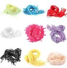 Charming Lace Sheer New Floral Design Shawl Wrap Tassel Scarf For Women--CB