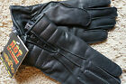 NWT Motorcycle Driving Black Zip Gloves Hot Leathers Thinsulate XS S M L XL