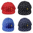 Kids Children Boys Girls Stars Flat Peak Snapback Baseball Sun Hat Hip-hop Cap