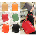 Hot Womens Casual Retro Preppy Style PU Leather Backpack Student School Handbag
