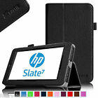 "For HP Slate 7 7"" Model 2800 Leather Case Cover Tablet + Screen Protector Stylus"
