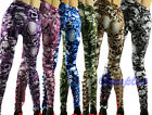 New Women Skull Printed Personalized Stretch Leggings Fashion Sexy Tight Pants