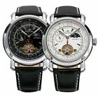 KS Tourbillon 24 Hours Display Leather Sport Men Automatic Mechanical Watch