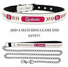 St Louis Cardinals Leather Dog Collar Officially Licensed MLB Cat Pet Leash Lead