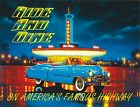 4266 RIDE AND DINE ON AMERICA'S FAMOUS HIGHWAY METAL WALL SIGN BRAND NEW