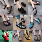 NEW WOMENS LADIES FLAT PLATFORM WEDGE LACE UP CREEPERS PUNK GOTH SHOES