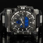 INFANTRY Mens Digital Quartz Wrist Watch Night Vision Analog Alarm Sport Rubber