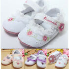 Baby Girl Infant Toddler Lace Soft Sole Mary Jane Newborn Prewalker Crib Shoes