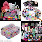Full Set Acrylic Nail Art Tips Dust Brush Manicure Glitter Decoration Tool Kit