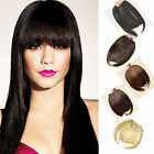 new gorgeous Synthetic Clip on Front Neat Bang Fringe Hair Extensions Any Colors