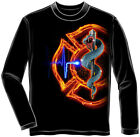 Firefighters Fire Rescue Adult Long Sleeve T-Shirt Tee