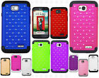 For LG Optimus Exceed 2 VS450 HYBRID IMPACT Hard Dazzling Diamond Case Cover