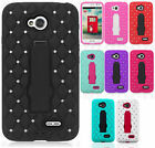 LG Optimus Exceed 2 VS450 HYBRID IMPACT KICK STAND Dazzling Diamond Case Cover