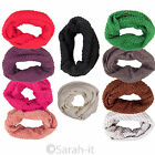 Women's Wool Winter Ladies Scarf Knitted Snood Multi Colour Stylish Fashion Warm