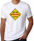 WARNING NEW DAD IN TRAINING Fun T-SHIRT daddy family  short and long
