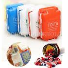 4 Color Portable Travel Foldable Mini Vitamin Tablet Case Pill Box 8slot Holder