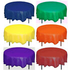 Solid Colors (6) 84 Round Plastic Table Covers Tablecloths Party 84 Inches