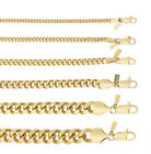 18K Gold Plated Cuban-Curb Link Chain Necklace or Bracelet - Lifetime Warranty