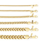 18K Gold Plated Cuban/Curb Link Chain Necklace or Bracelet - Lifetime Warranty <br/> ALL LENGTHS - WIDTHS of 3mm, 4mm, 5mm, 6mm, 9mm, 11mm