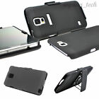 Black 3-in-1 Holster Belt Clip Stand Case For Samsung Galaxy Flagship Phones