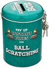 Money Tin ~ Fund/Fines/Tips/Savings/Box ~ With Padlock ~ Novelty & Fun