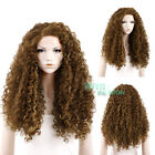 """18""""-28"""" Long Spiral Curly Brown Lace Front Wig Heat Resistant"""
