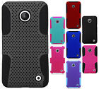 For Nokia Lumia 635 MESH Hybrid Silicone Rubber Skin Case Phone Protector Cover