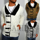 Young & Rich Men's Knitted Pullover Norwegians Cardigan Hoodie Men New