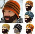 New Mens Womens Winter Beard Mustache Knit Face Mask Ski Warmer Hat Cap Beanie