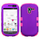 Samsung Galaxy Exhibit T599 IMPACT TUFF HYBRID Phone Case Skin Cover Accessory