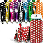 POLKA DOT (PU) LEATHER PULL TAB POUCH & POLKA STYLUS FOR SONY XPERIA 2014 MOBILE