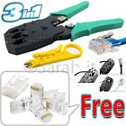 3 in 1 RJ45 Crimping Plier Stripper Crimp CAT5e Cutter Tool + 10 FREE Connectors