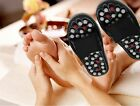 Unisex Black Reflexology Sandals Massage Slippers Foot Healthy Shoe Massager CB