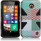 For Nokia Lumia 635 IMPACT TUFF HYBRID Protector Case Skin Phone Cover