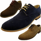 Mens Smart Casual Lace Up Faux Suede Brogues Office  Shoes Size 6 7 8 9 10 11 12