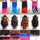 Hot Color Ombre Cosplay 100% Synthetic Weft Clip In Hair Extensions One Piece