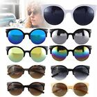 Fashion Oversized Vintage Retro Cats Eye Sunglasses Black Round Unisex Designer