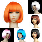 Girl Straight Full Wigs Sexy BOBO Style Hair Short Cosplay Wigs  6 Colors NA52