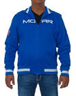 Mopar Jacket Royal Blue White Mopar Logos Slim Fit Track Jacket Zip Sweatshirt