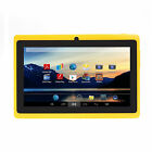 "IRULU 7"" Tablet PC Android 4.2 8GB WIFI Dual Core Cam 1.5GHz Yellow w/ TF Card"