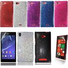 Stylish Disco Glitter Sparkling Bling Hard Case Cover FREE Film For HTC and Sony
