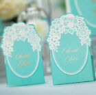 10pcs Tiffany Blue Wedding Favor Candy Boxes Lace Flower Gift Boxes BX011