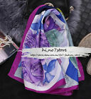 Elegant Floral Multi Color 100% top-grade pure mulberry silk square scarf wraps