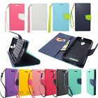 Leather Wallet Style Case Credit Card Holder Flip Cover Clutch w/ Magnetic Clasp