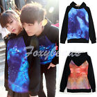 Unisex Galaxy Astronomy Print Sweater Tops Outerwear Lovers Jumper Hoddies Shirt