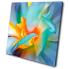 Floral Flower SINGLE CANVAS WALL ART Picture Print VA