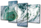 Sunset Seascape Wave MULTI CANVAS WALL ART Picture Print VA