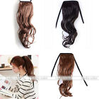 Womens Long Wavy Bouncy Curly Ponytail Clip in on Hair Extension Hairpiece